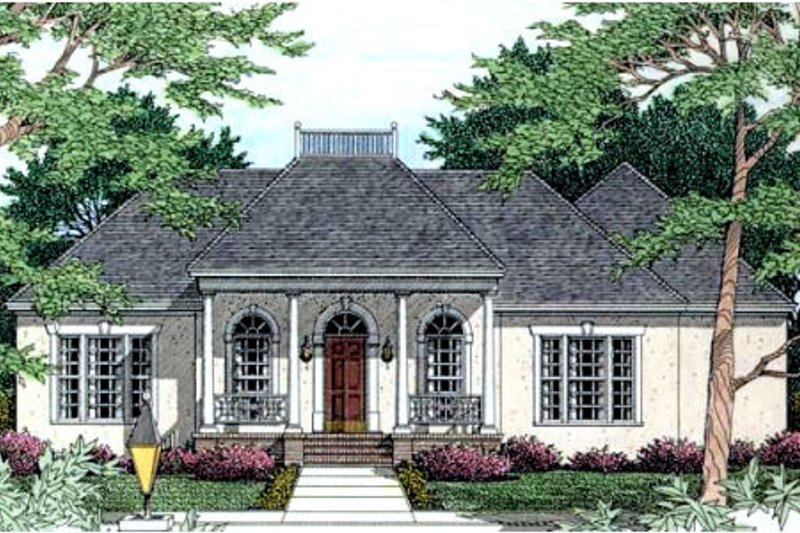 European Exterior - Front Elevation Plan #406-185