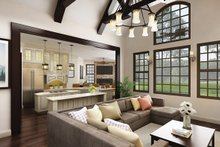 Craftsman Interior - Family Room Plan #119-422
