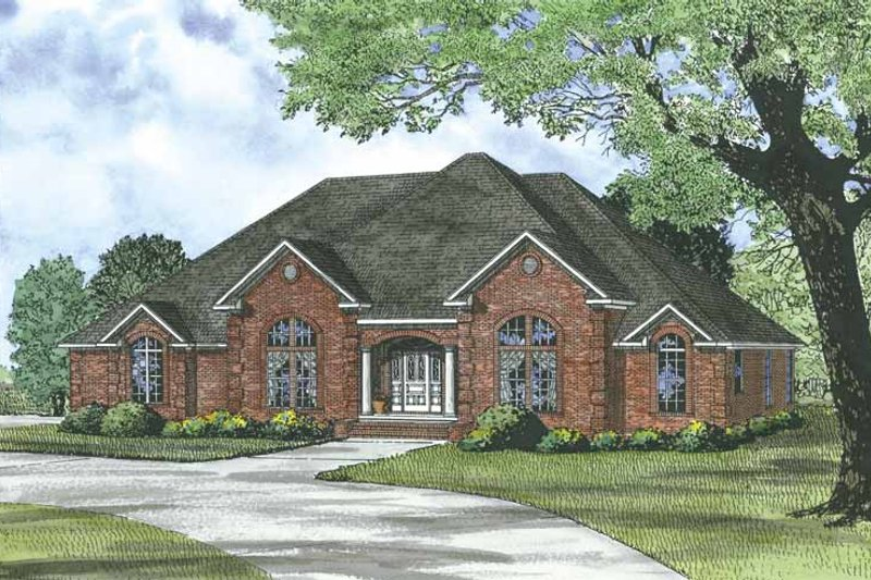 Traditional Exterior - Front Elevation Plan #17-3285 - Houseplans.com