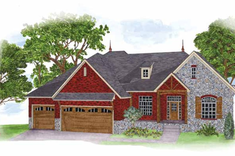 House Plan Design - Country Exterior - Front Elevation Plan #950-2