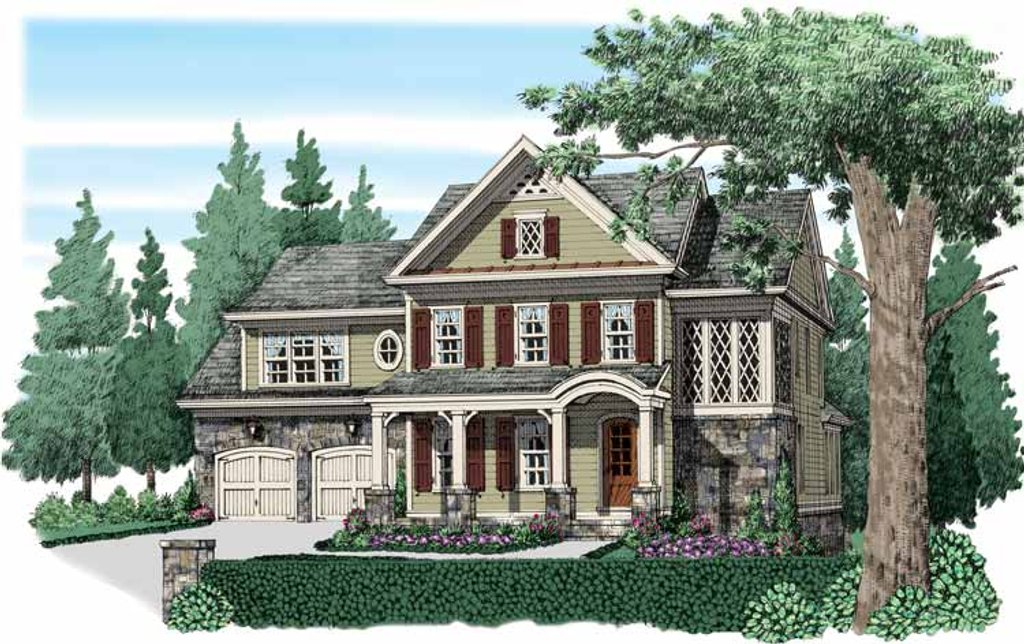 Traditional Exterior Front Elevation Plan 927 938
