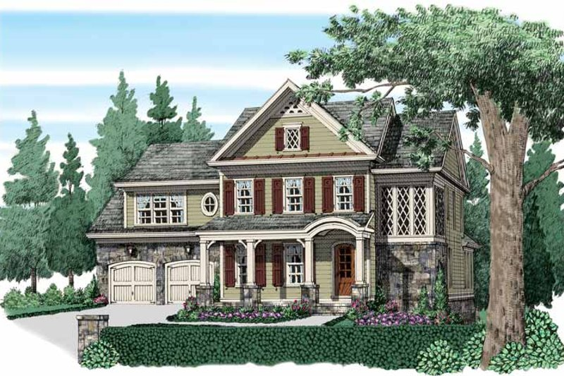 Architectural House Design - Traditional Exterior - Front Elevation Plan #927-938