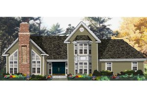Traditional Exterior - Front Elevation Plan #3-238