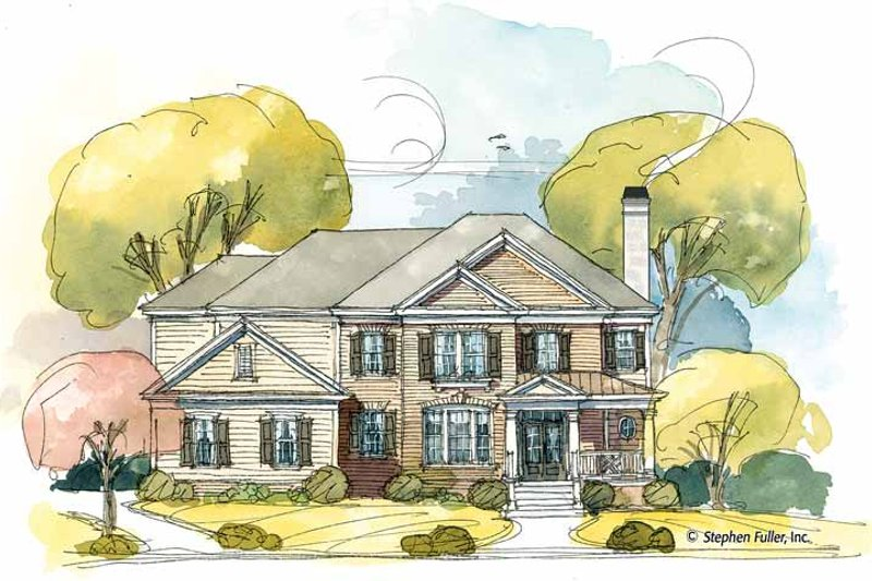 Colonial Exterior - Front Elevation Plan #429-399 - Houseplans.com
