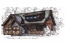 Craftsman Exterior - Front Elevation Plan #17-2813