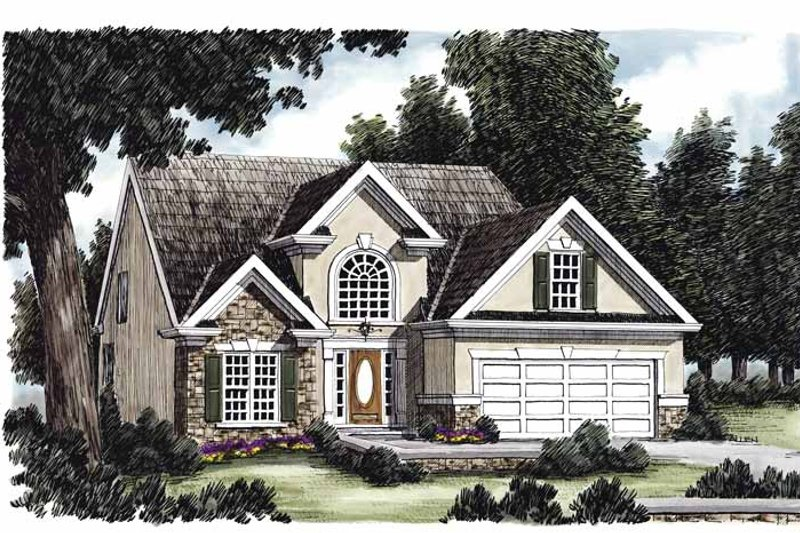 Country Exterior - Front Elevation Plan #927-56