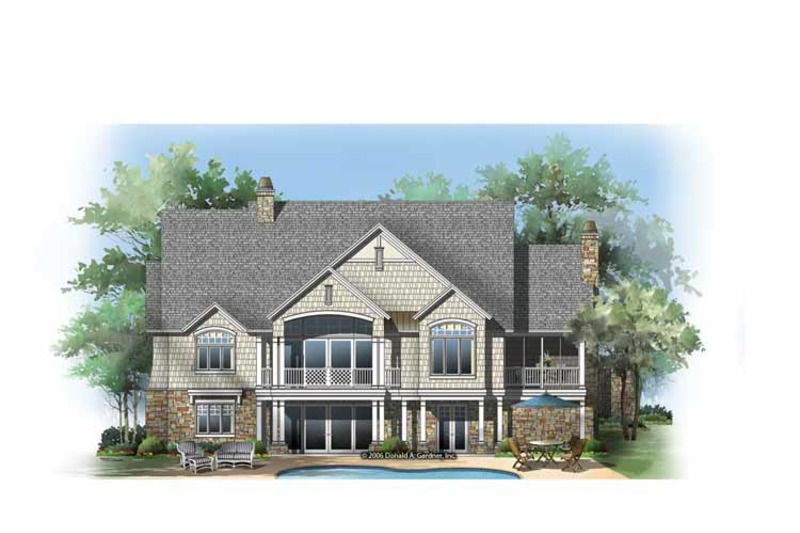 Craftsman Exterior - Rear Elevation Plan #929-861 - Houseplans.com