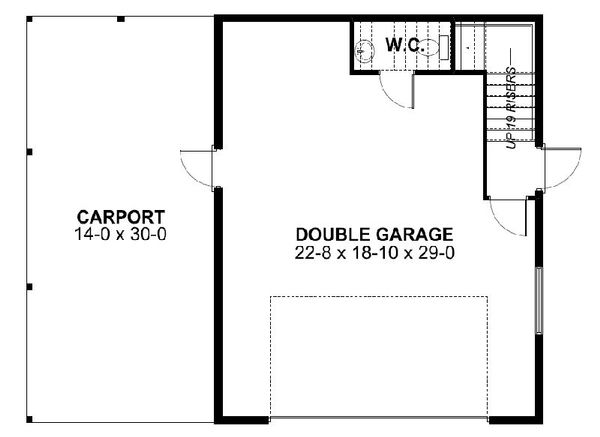 Traditional Floor Plan - Lower Floor Plan Plan #126-164