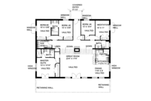 Contemporary Floor Plan - Main Floor Plan Plan #117-863