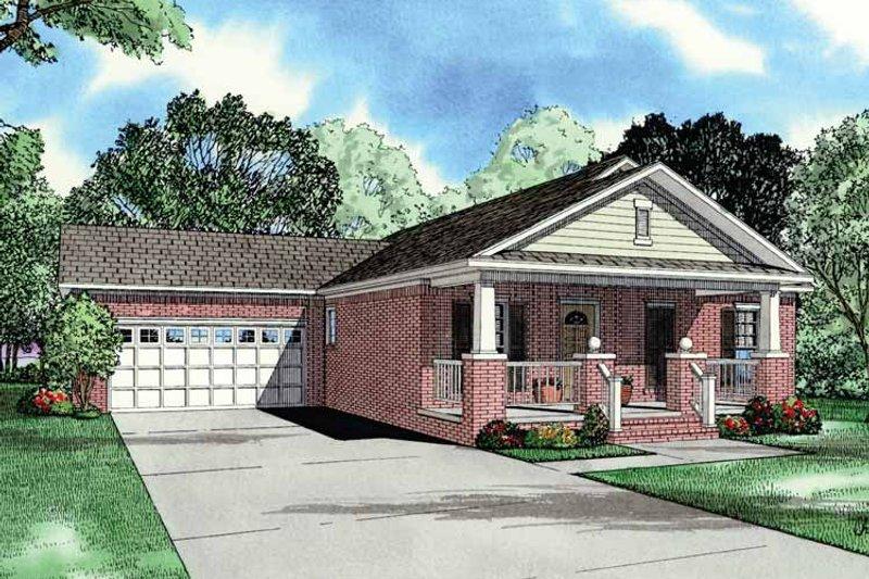 Craftsman Exterior - Front Elevation Plan #17-2751 - Houseplans.com