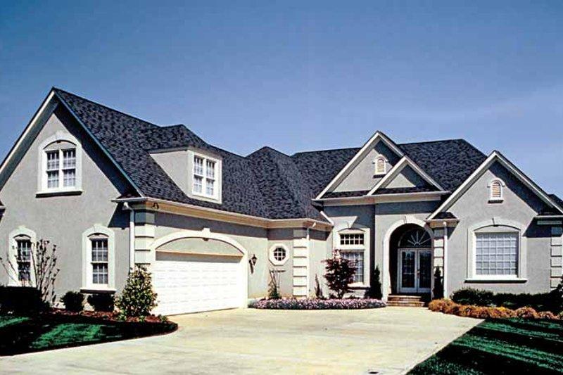 Dream House Plan - Mediterranean Exterior - Front Elevation Plan #453-344