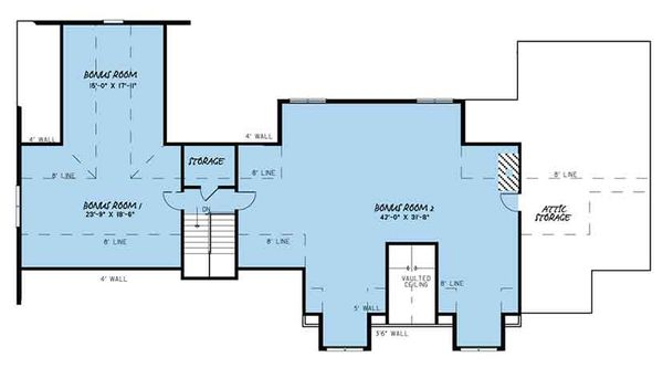 Craftsman Floor Plan - Other Floor Plan Plan #17-3407