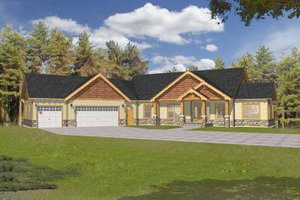 Craftsman Exterior - Front Elevation Plan #1037-18