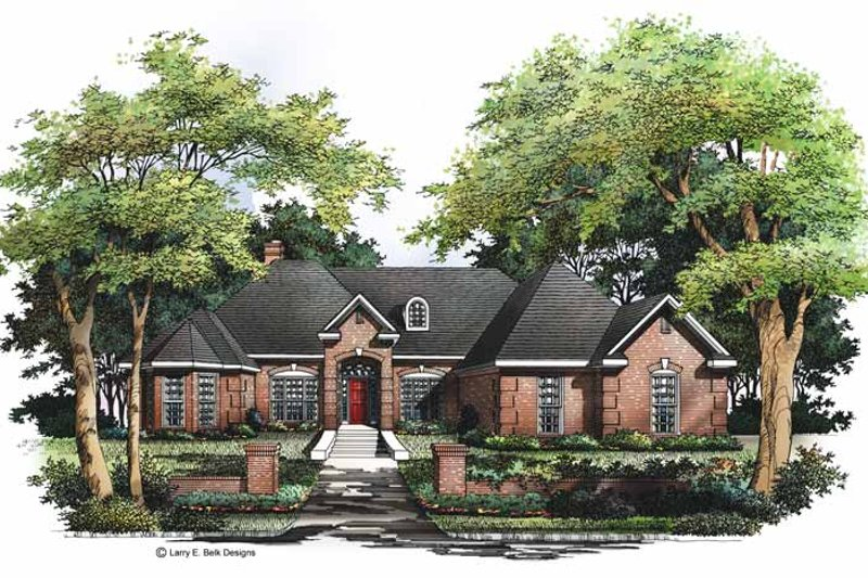 Home Plan - European Exterior - Front Elevation Plan #952-52