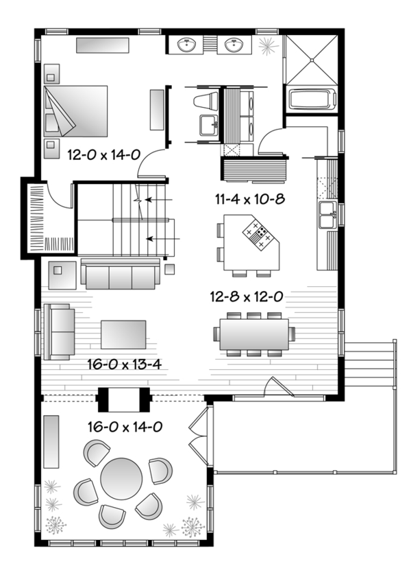 Country Floor Plan - Main Floor Plan Plan #23-2495