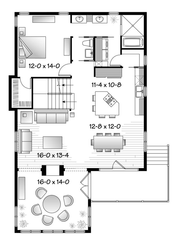 Home Plan - Country Floor Plan - Main Floor Plan #23-2495