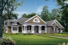 Architectural House Design - Craftsman Exterior - Front Elevation Plan #132-257