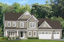 House Plan Design - Traditional Exterior - Front Elevation Plan #1010-128