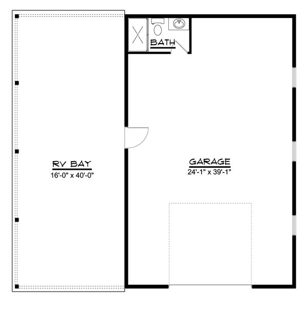 Country Floor Plan - Main Floor Plan Plan #1064-56