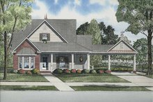 House Plan Design - Craftsman Exterior - Front Elevation Plan #17-2866
