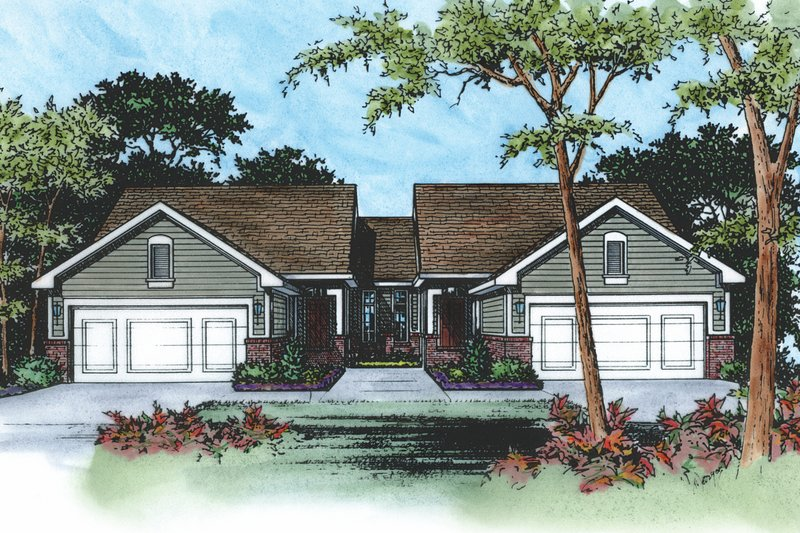 Dream House Plan - Traditional Exterior - Front Elevation Plan #20-394