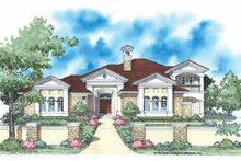House Plan Design - Mediterranean Exterior - Front Elevation Plan #930-336
