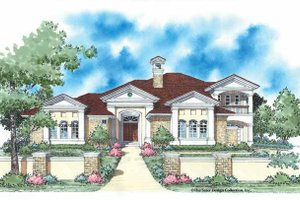 House Design - Mediterranean Exterior - Front Elevation Plan #930-336
