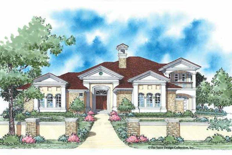 House Plan Design - Mediterranean Exterior - Front Elevation Plan #930-336