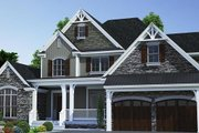 Traditional Style House Plan - 3 Beds 4 Baths 2683 Sq/Ft Plan #17-3424 Exterior - Front Elevation
