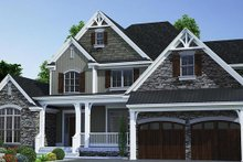 House Plan Design - Traditional Exterior - Front Elevation Plan #17-3424
