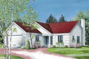 Exterior - Front Elevation Plan #23-131