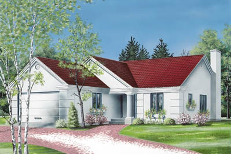 Exterior - Front Elevation Plan #23-131