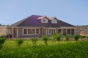 Ranch Style House Plan - 4 Beds 3 Baths 4100 Sq/Ft Plan #515-1 Exterior - Rear Elevation