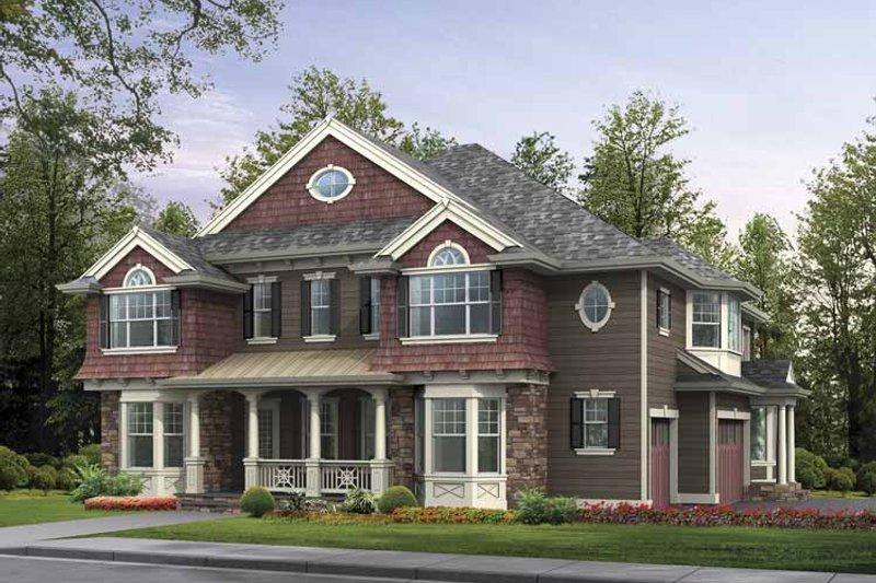Craftsman Exterior - Front Elevation Plan #132-490