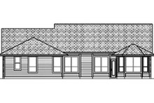 Home Plan - Traditional Exterior - Rear Elevation Plan #84-355