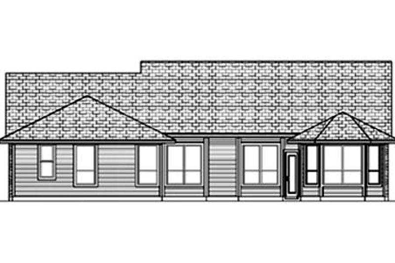 Traditional Exterior - Rear Elevation Plan #84-355 - Houseplans.com