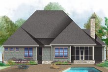 European Exterior - Rear Elevation Plan #929-1010