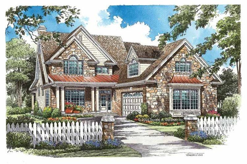 House Plan Design - Traditional Exterior - Front Elevation Plan #929-771