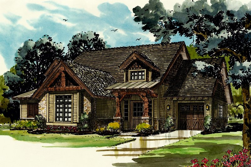 Dream House Plan - Cabin Exterior - Front Elevation Plan #942-40