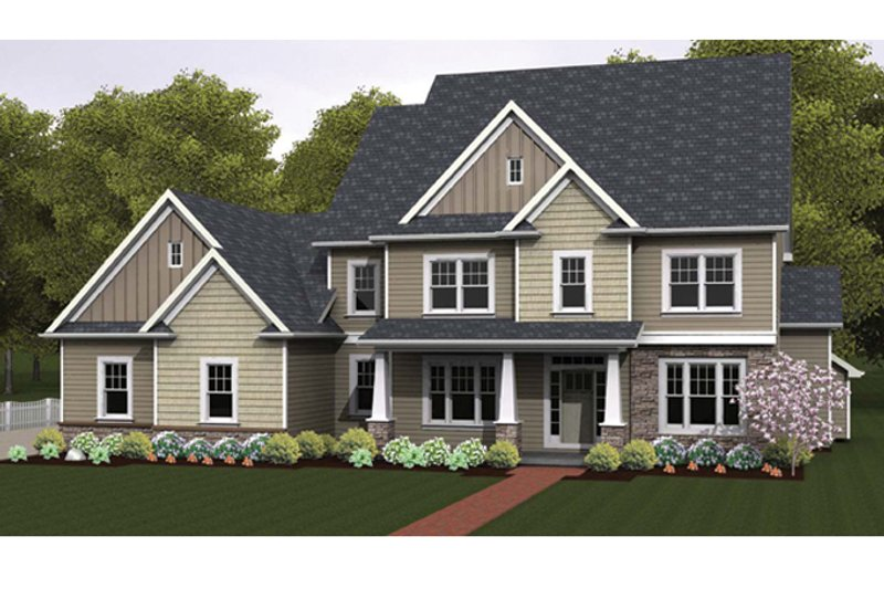 Architectural House Design - Colonial Exterior - Front Elevation Plan #1010-65