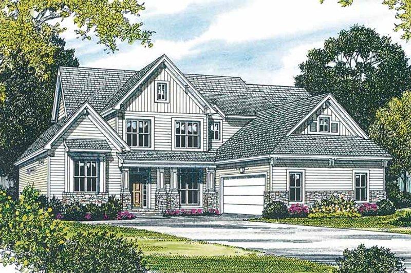 Home Plan - Craftsman Exterior - Front Elevation Plan #453-157