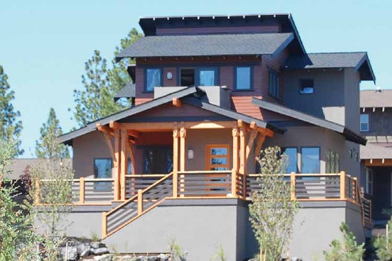 Dream House Plan - Contemporary Exterior - Front Elevation Plan #895-66