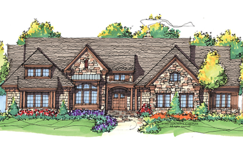 Craftsman Exterior - Front Elevation Plan #929-898 - Houseplans.com