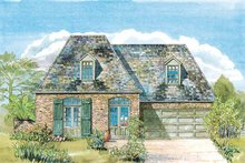 Country Exterior - Front Elevation Plan #301-149