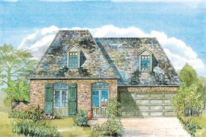 Architectural House Design - Country Exterior - Front Elevation Plan #301-149