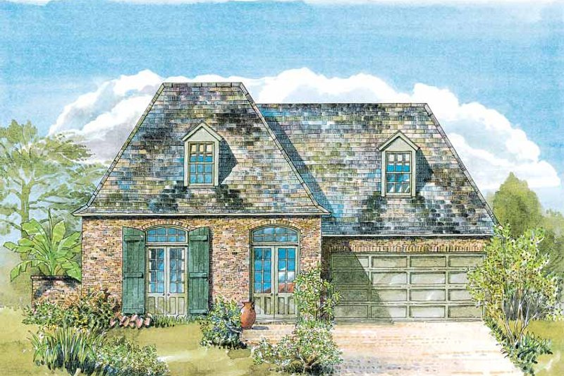 Country Exterior - Front Elevation Plan #301-149 - Houseplans.com