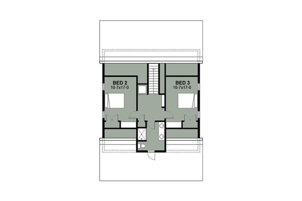 Farmhouse Floor Plan - Upper Floor Plan Plan #497-10