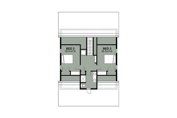 Farmhouse Floor Plan - Upper Floor Plan Plan #497-10