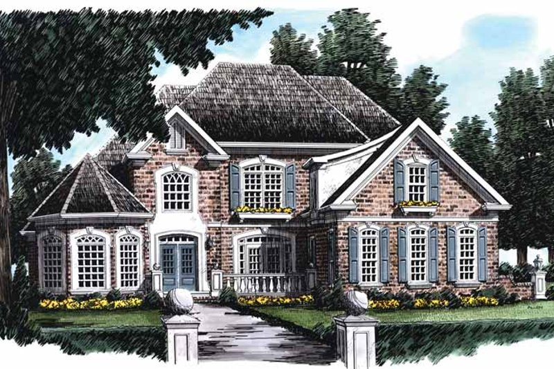 Country Exterior - Front Elevation Plan #927-139
