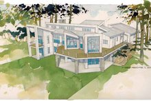 Architectural House Design - Contemporary Exterior - Rear Elevation Plan #928-168